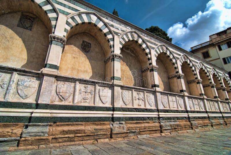 Novela corta de Santa María en Florencia, Italia fotos de archivo