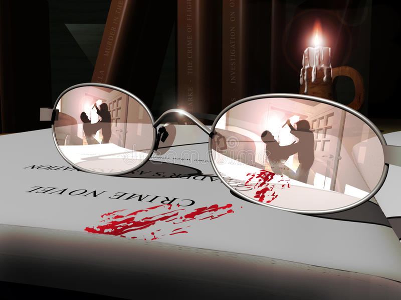 Novela do crime ilustração do vetor