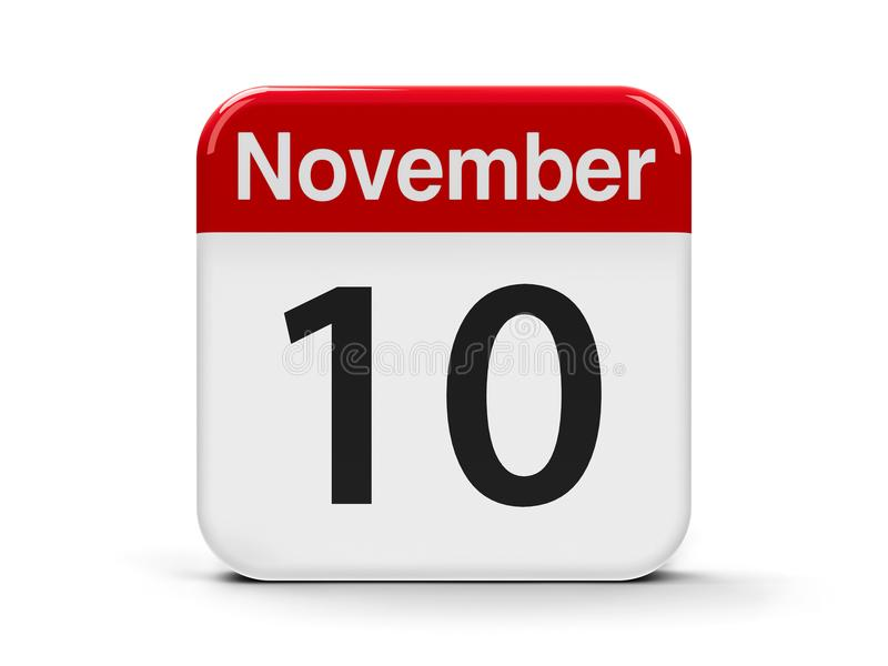 10. November vektor abbildung