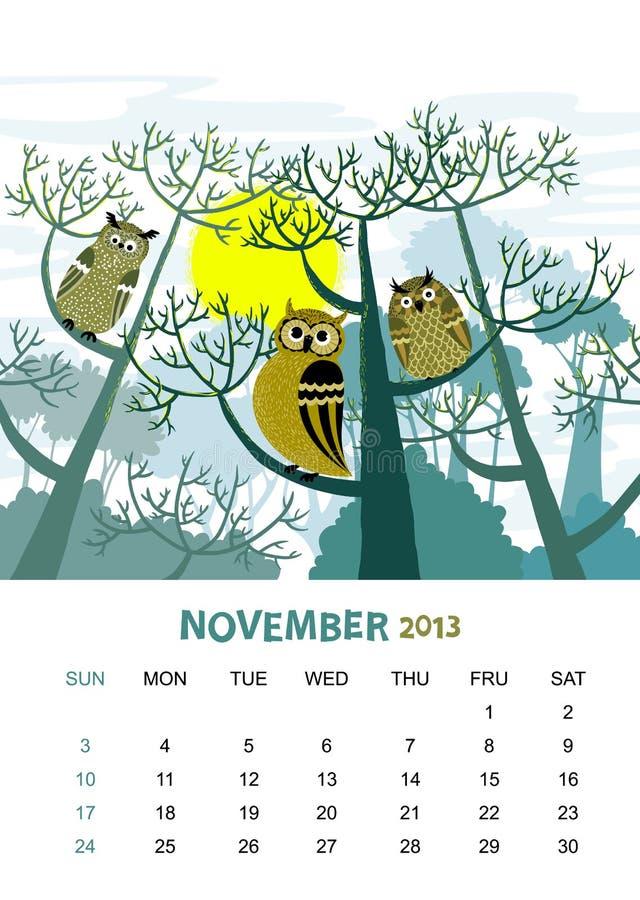 November lizenzfreie abbildung