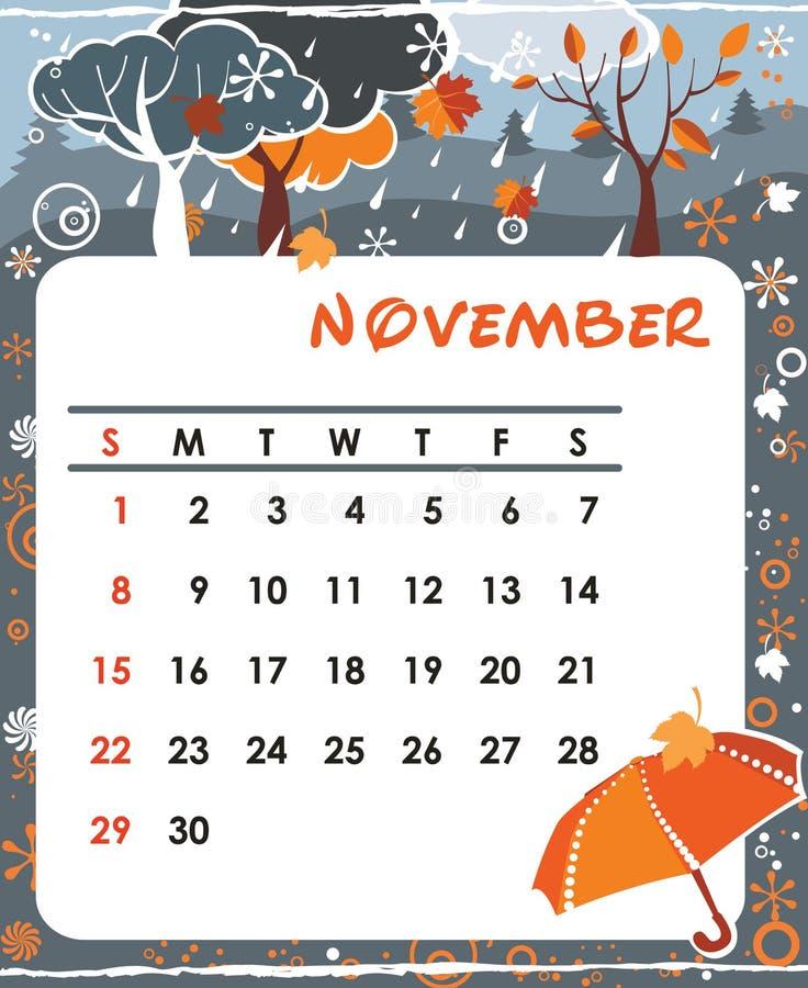 November vector illustration