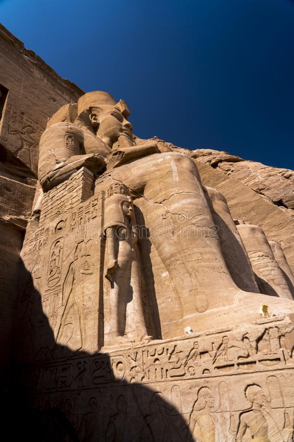 Abu Simbel, site of two temples built by the Egyptian king Ramses II (reigned 1279–13 BCE), now located in Aswān muḥāfaẓah. NOVEMBER 14 royalty free stock photography