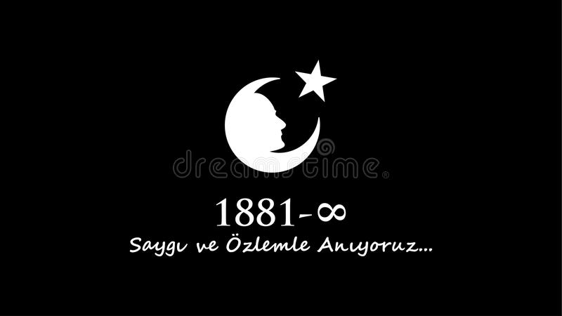 November 10 Ataturk åminnelsedag arkivbilder