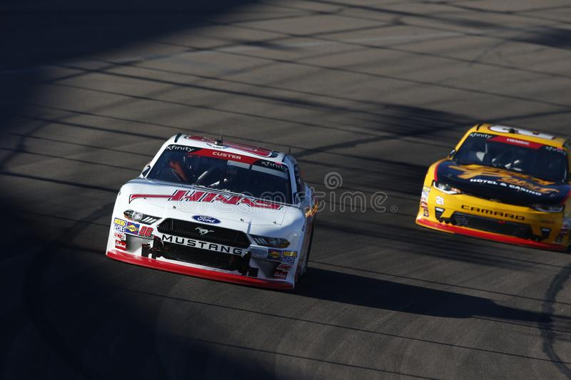 NASCAR: November 10 Whelen Trusted to Perform 200. November 10, 2018 - Avondale, Arizona, USA: Cole Custer 00 battles for position during the Whelen Trusted to royalty free stock images