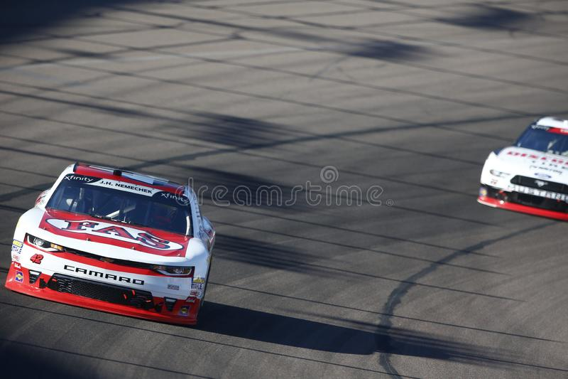 NASCAR: November 10 Whelen Trusted to Perform 200. November 10, 2018 - Avondale, Arizona, USA: John Hunter Nemechek 42 battles for position during the Whelen stock photography
