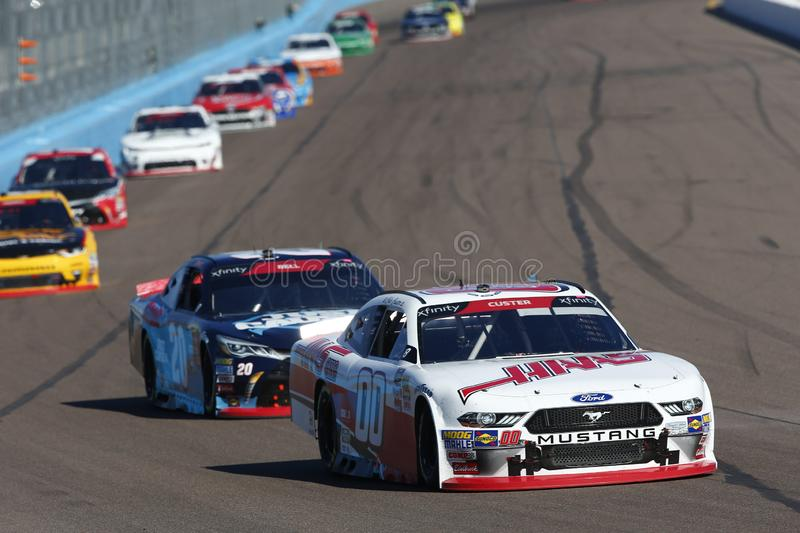 NASCAR: November 10 Whelen Trusted to Perform 200. November 10, 2018 - Avondale, Arizona, USA: November 10, 2018 - Avondale, Arizona, USA: Cole Custer 00 battles stock image