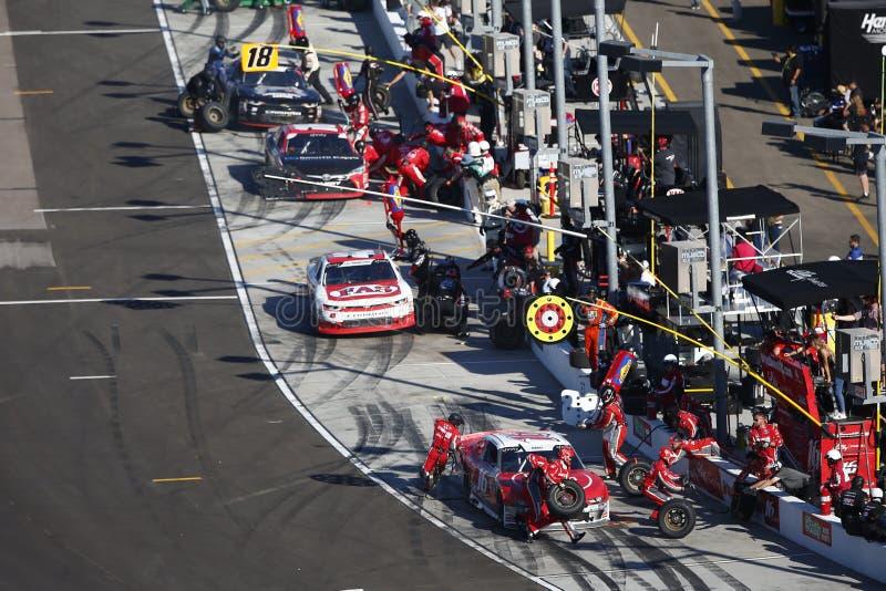 NASCAR: November 10 Whelen Trusted to Perform 200. November 10, 2018 - Avondale, Arizona, USA: November 10, 2018 - Avondale, Arizona, USA: The NASCAR Xfinity royalty free stock photos