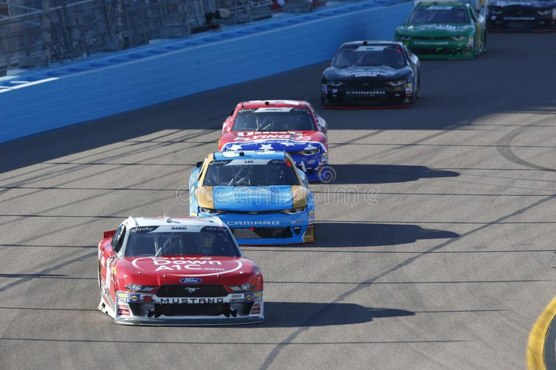 NASCAR: November 10 Whelen Trusted to Perform 200. November 10, 2018 - Avondale, Arizona, USA: Ryan Reed 16 battles for position during the Whelen Trusted to royalty free stock photos