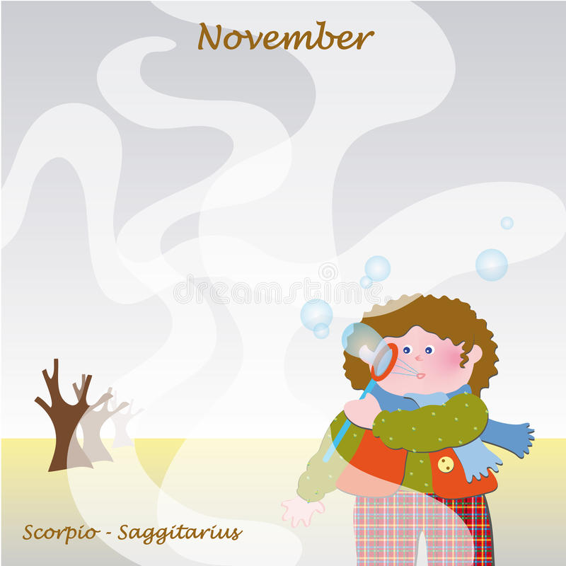 November base calendar to add the days royalty free stock photography