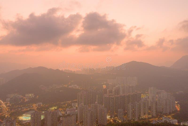 11. November 2019 Bezirk Hang Hau in Tseung Kwan O, Hongkong stockfotografie
