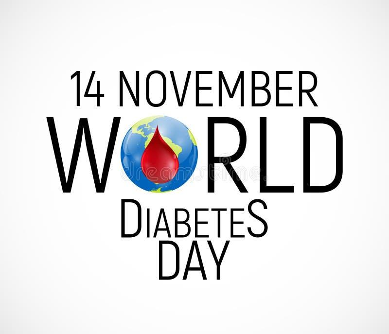 14 November De achtergrond van de de dagvoorlichting van de werelddiabetes Vectorillutration royalty-vrije illustratie