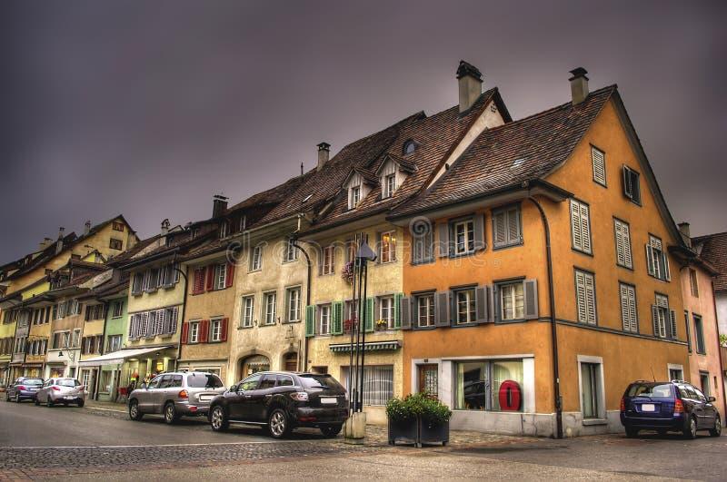 Historic Centre Of Diessenhofen stock images