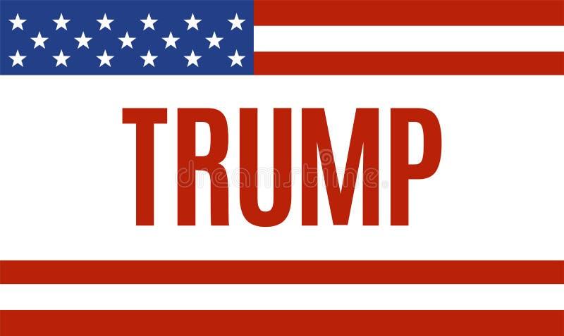 November 14, 2016. Donald Trump political banner. Vector illustration stock illustration