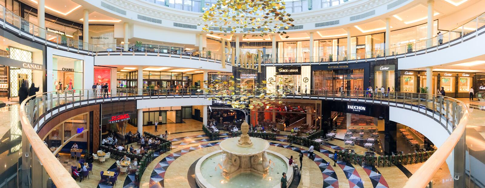 Interior of the Mall of Emirates stock images