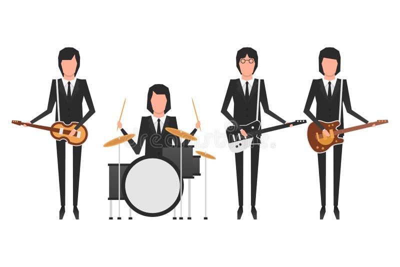 The Beatles band topics stock illustration