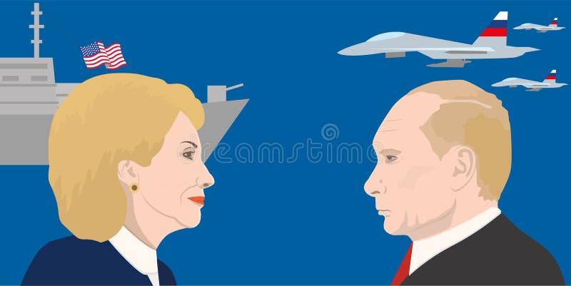 World leaders theme royalty free illustration