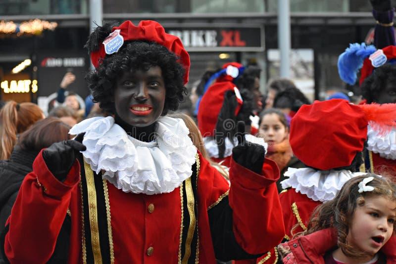 Celebrating the arrival of Dutch Saint Nicholas. royalty free stock image