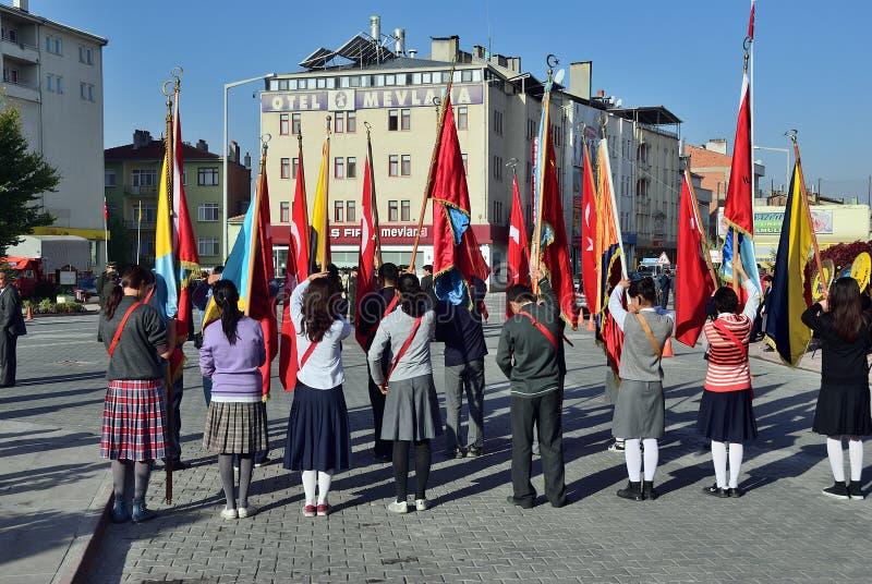 10 November-Herdenkingsdag van Mustafa Kemal Ataturk Turkije stock foto