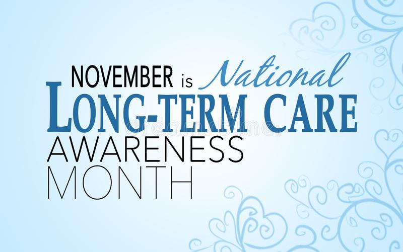 November ist Langzeitpflegebewusstseinsmonat vektor abbildung