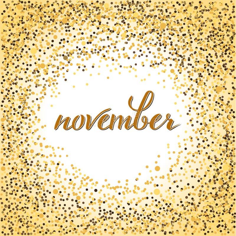 November Lettering Stock Vector Illustration Of Font 79346325