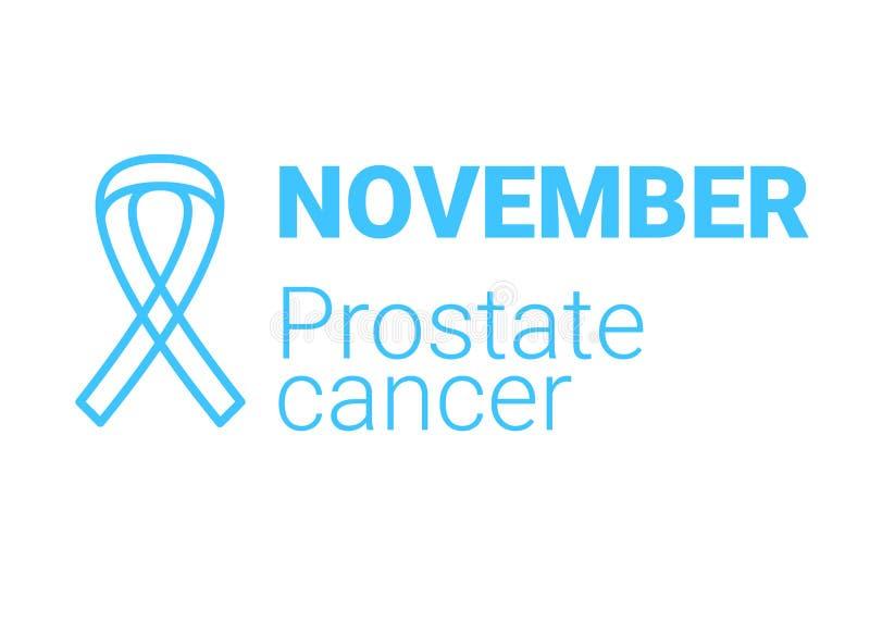 November-maand van prostate kanker Blauw lint Het symbool van de mensengezondheid Vector stock illustratie