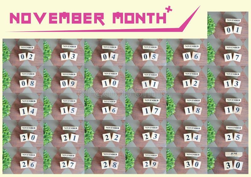 November-maandinzameling voor achtergrond royalty-vrije stock foto's
