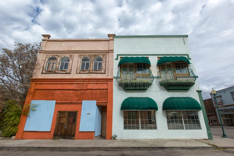 Victorian style buildings in Miami, Arizona. November 26, 2015 Miami, Arizona: victorian style architecture in the former copper mining boomtown royalty free stock image