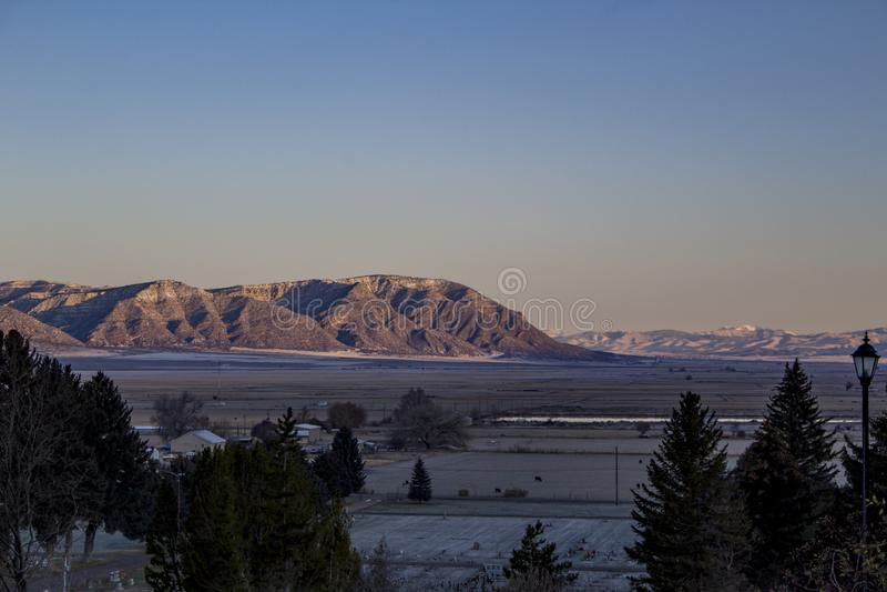November morgon i Sanpete County, Utah arkivbilder