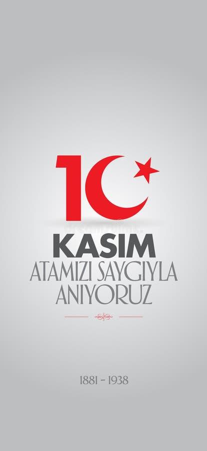 10 November, Mustafa Kemal Ataturk Death Day anniversary. Memorial day of Ataturk. Billboard Design. 10 November, Mustafa Kemal Ataturk Death Day anniversary vector illustration