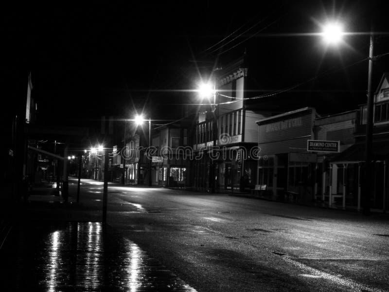 November-Regen Skagway stock afbeeldingen