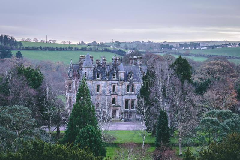 November 17th, 2017, Blarney, Ireland - Blarney House. A Scottish Baronial mansion designed by John Lanyon at Blarney Castle stock photos