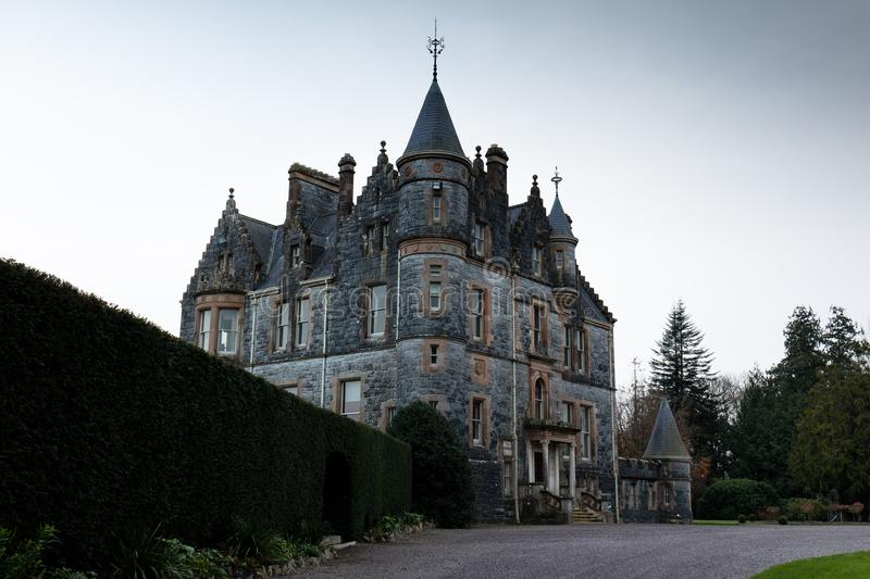 November 17th, 2017, Blarney, Ireland - Blarney House. A Scottish Baronial mansion designed by John Lanyon at Blarney Castle stock photography