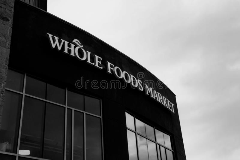 Editorial: Whole Foods Market. November 17th 2018 Editorial Image: Whole Foods Market an Amazon Company royalty free stock photography