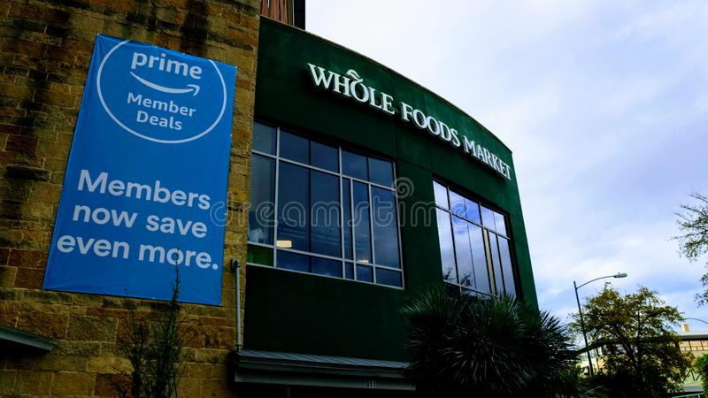 Editorial: Whole Foods Market. November 17th 2018 Editorial Image: Whole Foods Market an Amazon Company royalty free stock photos