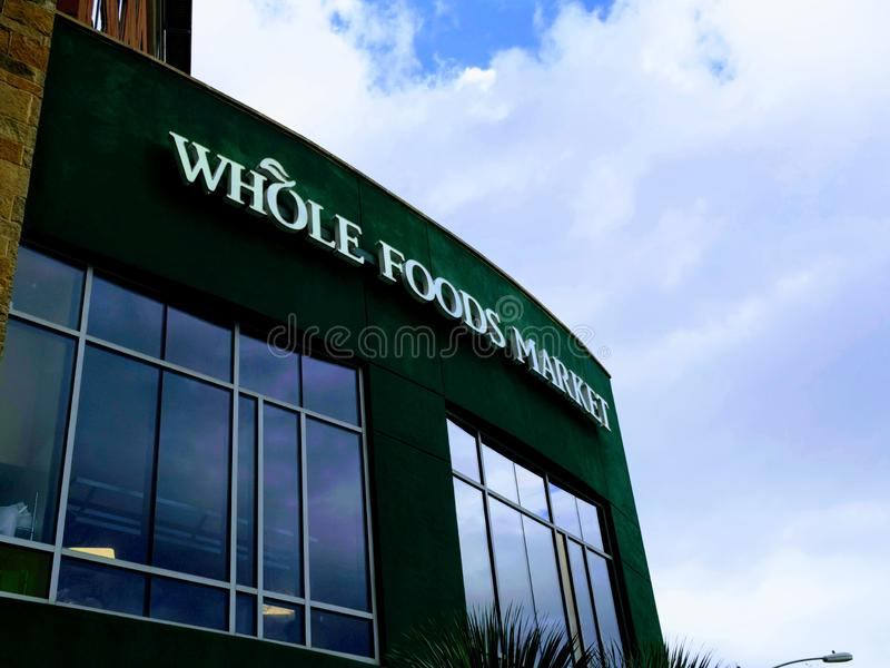 Editorial: Whole Foods Market. November 17th 2018 Editorial Image: Whole Foods Market an Amazon Company royalty free stock photo