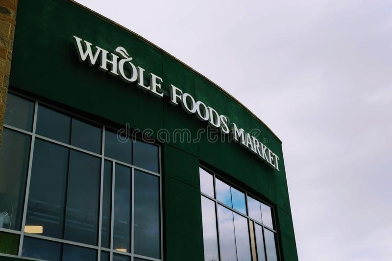 Editorial: Whole Foods Market. November 17th 2018 Editorial Image: Whole Foods Market an Amazon Company stock photography