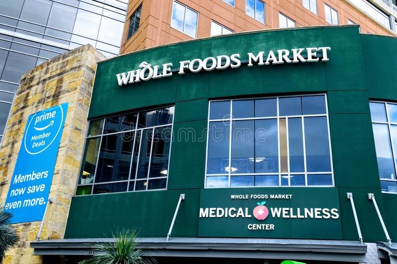 Editorial: Whole Foods Market. November 17th 2018 Editorial Image: Whole Foods Market an Amazon Company stock images