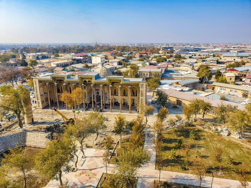 November 2019, Uzbekistan, Bukhara. Central Asia. Bolo - Hauz complex is an architectural ensemble located on Registan of Bukhara, royalty free stock photos
