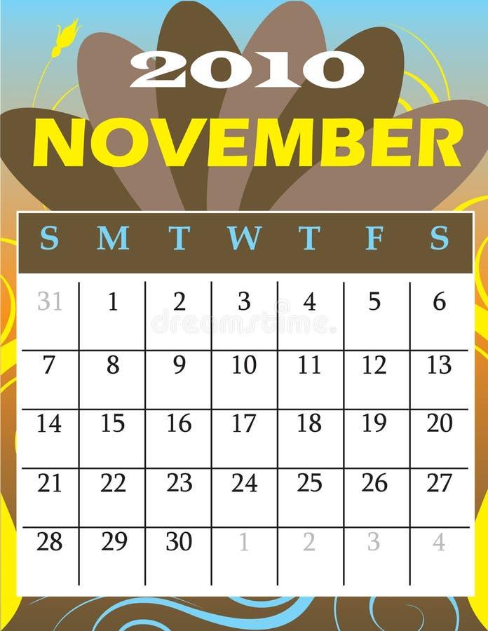 Novembre 2010 illustration stock