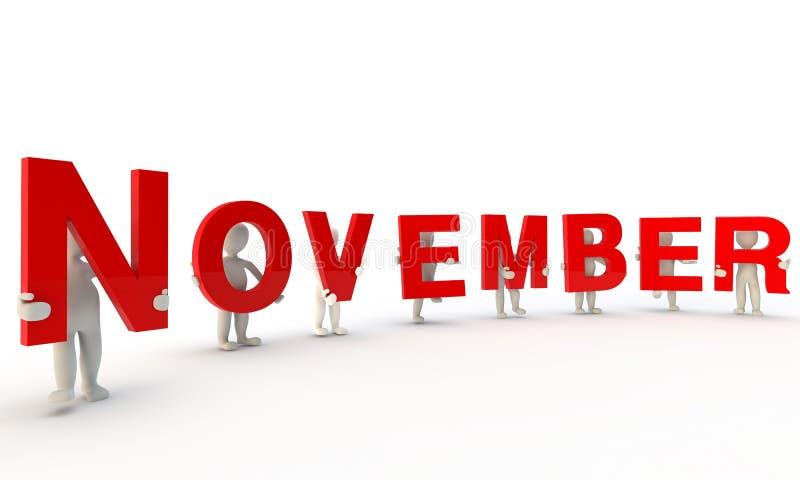 Novembre illustration stock