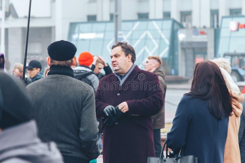 7 novembre 2018 anniversaire de Minsk Belarus de la grande révolution socialiste d'octobre images stock