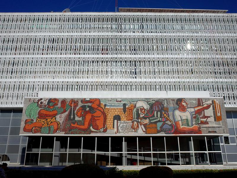 21 novembre 2017, CAMPECHE, MESSICO - il Palacio de Gobierno (palazzo di governo) fotografie stock libere da diritti