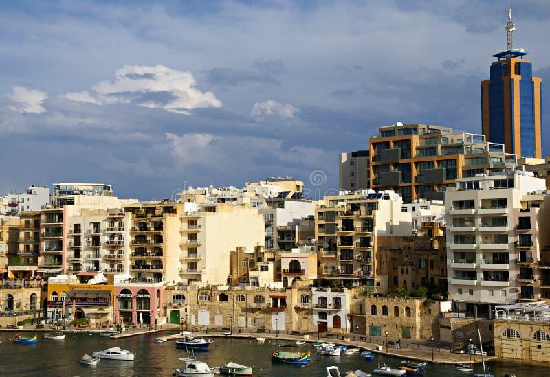 7 novembre - giorno del ciclone Mediterraneo a Malta immagini stock libere da diritti
