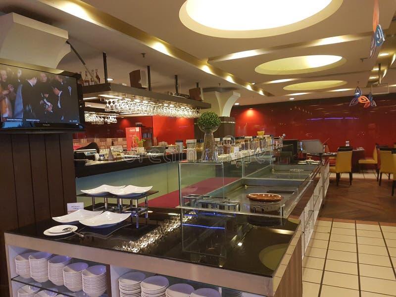 8 novembre 2016 Johor Baru, Malesia Progettazione del ristorante alla m. Suite Hotel immagine stock libera da diritti
