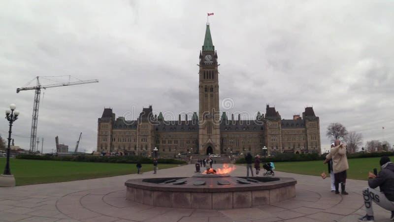 10 novembre 2016 - Ottawa, il Parlamento Buildngs del ` s di Ontario - del Canada - del Canada video d archivio