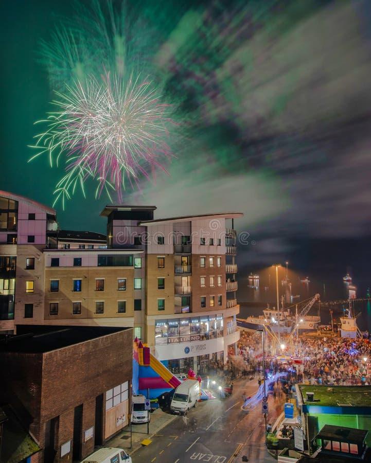 5 novembre Poole Quay fotografie stock
