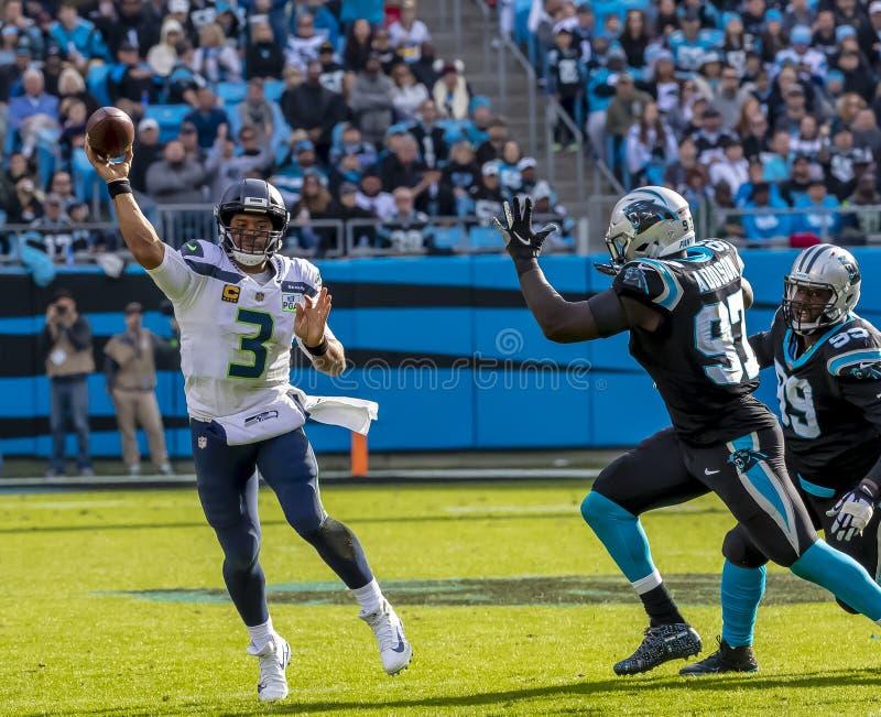 25 novembre Seattle Seahawks contro Carolina Panthers fotografie stock libere da diritti