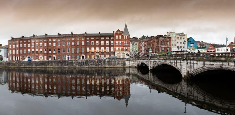 15 novembre 2017, sughero, Irlanda - vista del ponte del ` s di San Patrizio immagine stock libera da diritti