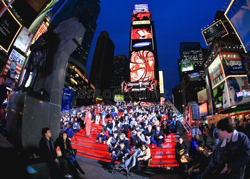 Novembro 4, 2008 - o Times Square em NYC fotografia de stock royalty free