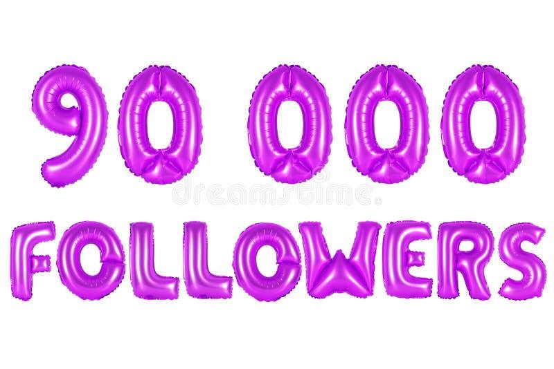 Noventa mil seguidores, cor roxa fotografia de stock royalty free